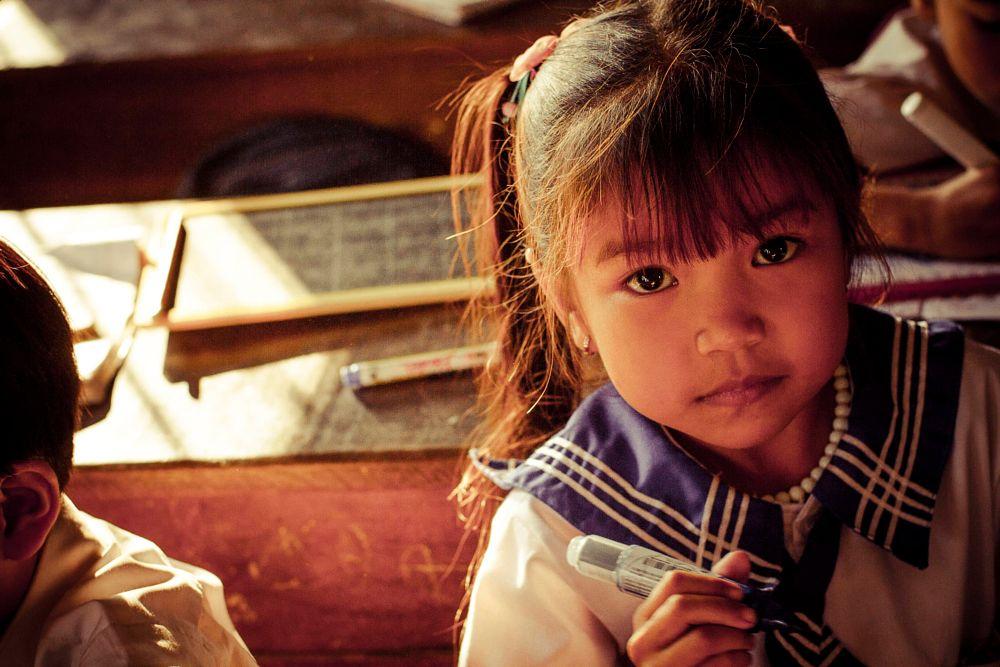 Photo in People #カンボジアの肖像cambodia school cla
