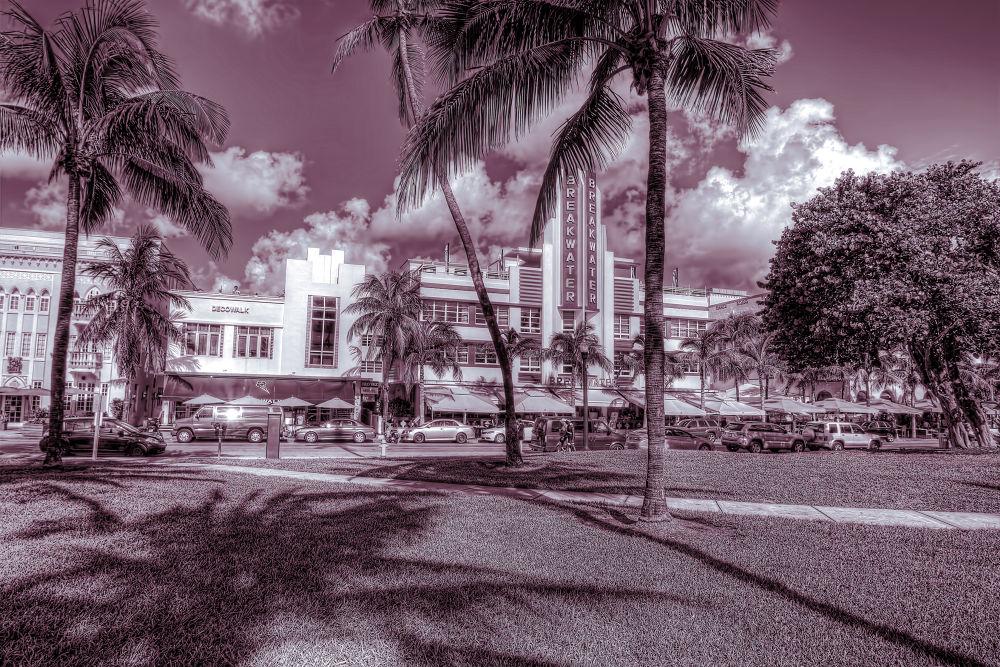 Photo in Architecture #miami #florida #miami beach #art deco #beach #hdr #canon 7d #ocean drive