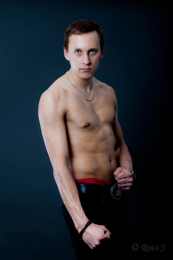 Photo in Nude #tough #male #man #muscle #nude #half-naked #torso #chest #studio #gaze
