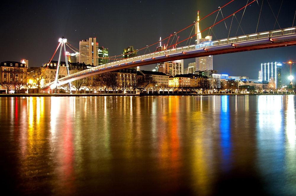 Photo in Random #lights #city #river #bridge #night #frankfurt am main