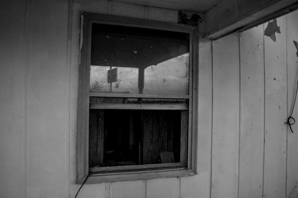 Photo in Black and White #abandoned #house #window #camera #dslr #arkansas