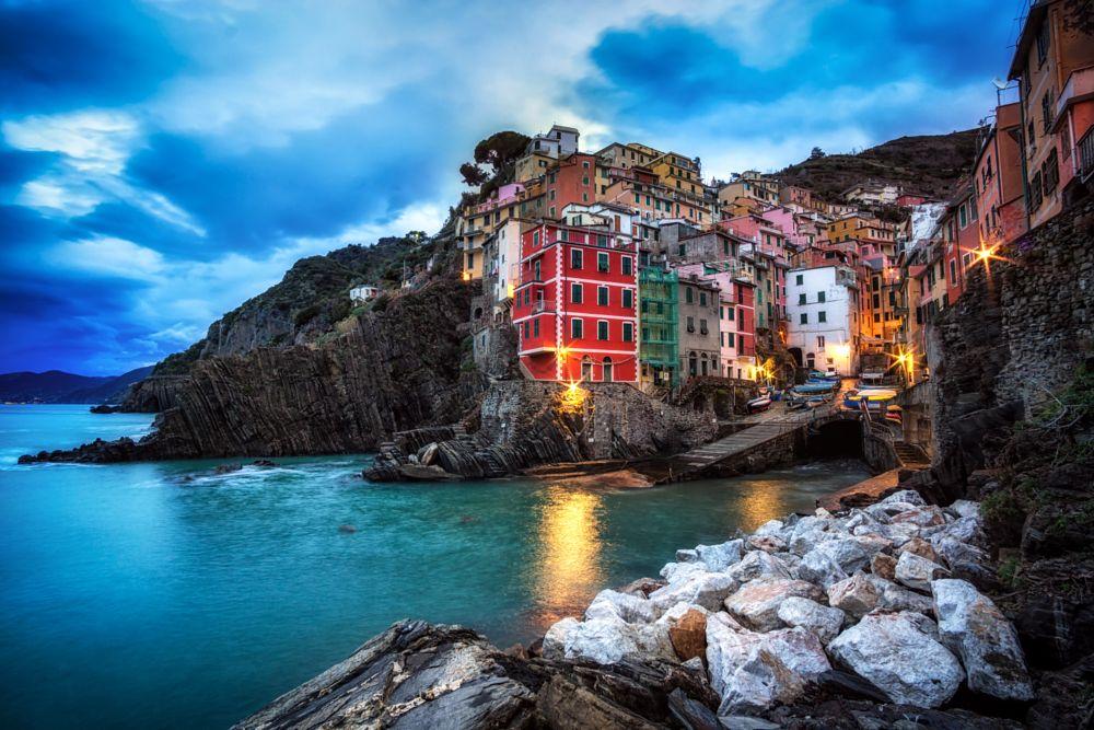 Photo in Landscape #riomaggiore #italy #italian #europe #morning #cinque terre #winter #sunrise #travel #tourism