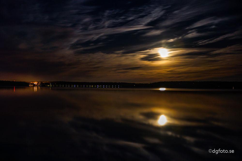 Photo in Sea and Sand #moonlight #lake #shadow #serene