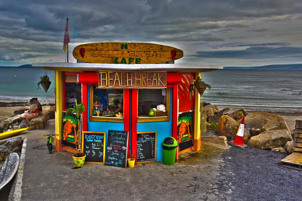 Photo in Travel #galway #ireland #beach #cafe #surf #eire #west #hdr