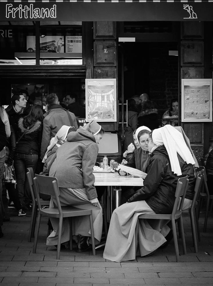Photo in Street Photography #black and white #streetphotography #people
