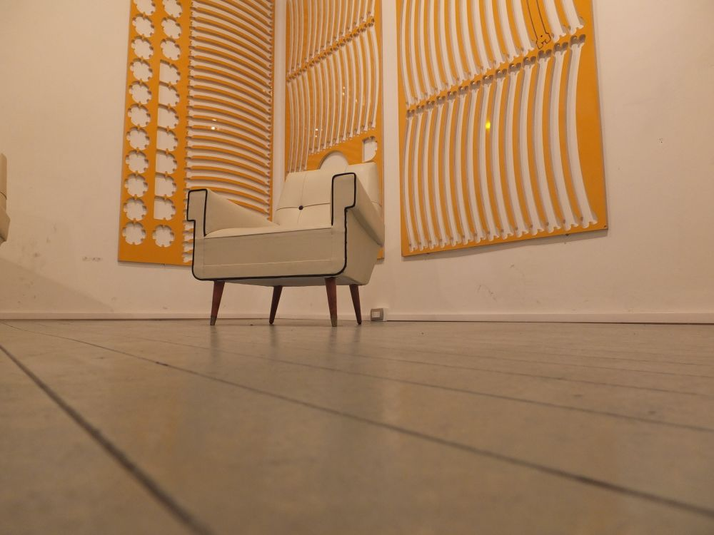 Photo in Industrial #chair #yellow #cnc
