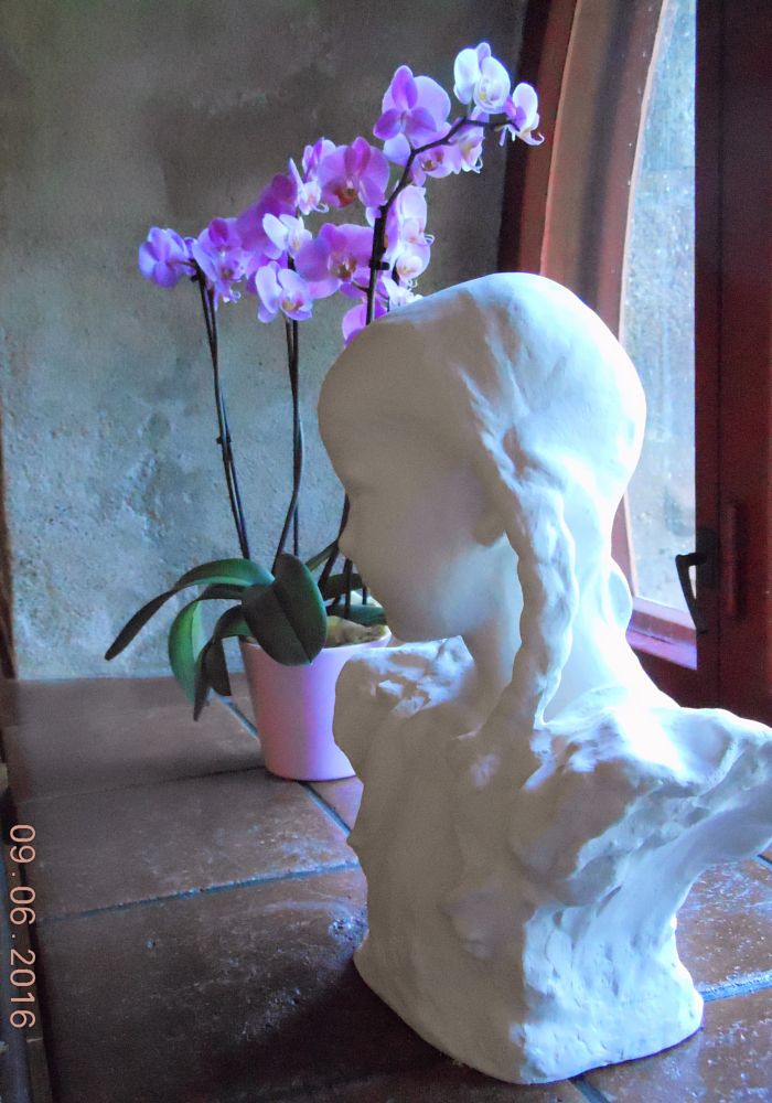 Photo in Fine Art #still life #statue #flowers #cafe´ #sights #travel #finland #pirkanmaa