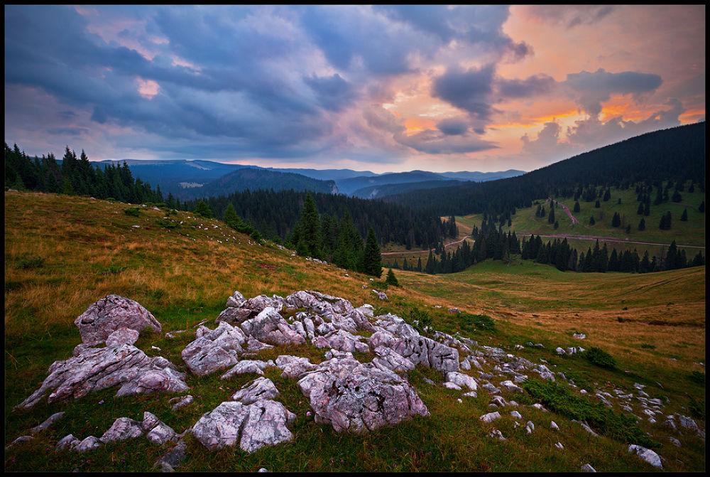 Photo in Landscape #nature #landscape #sunrise #romania #padis #limestone #clouds
