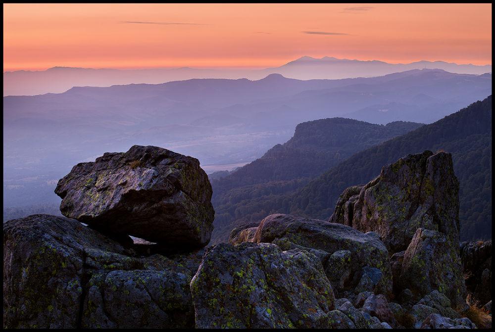 Photo in Landscape #nature #landscape #mountains #colorful #sunrise #blue hour #romania #stones #sky