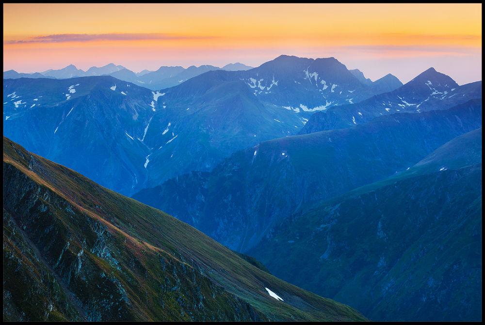 Photo in Landscape #mountains #nature #landscape #romania #sunset