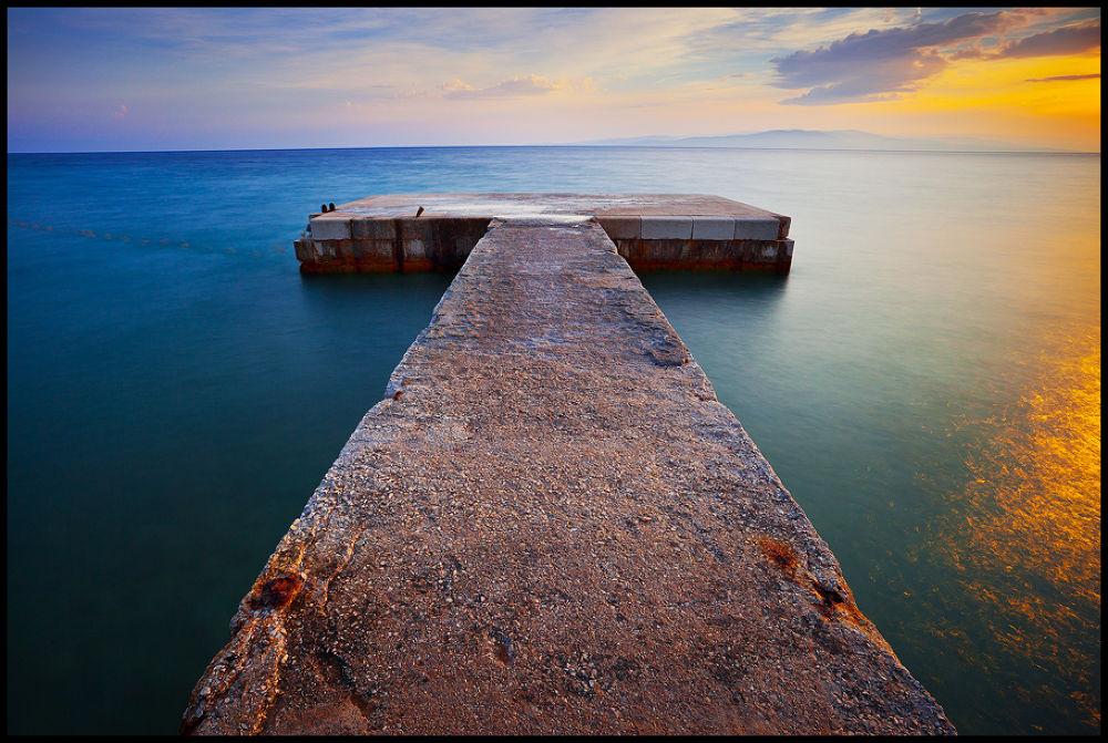 Photo in Landscape #seascape #nature #sea #sunset #dalmatia