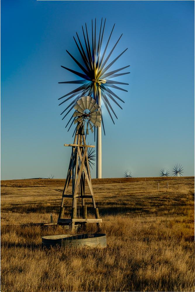 Photo in Architecture #windmill #old and new #stack