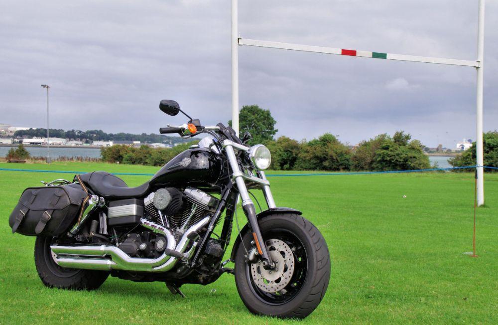 Photo in Vehicle #harley-davidson #bike #hog #rugby club