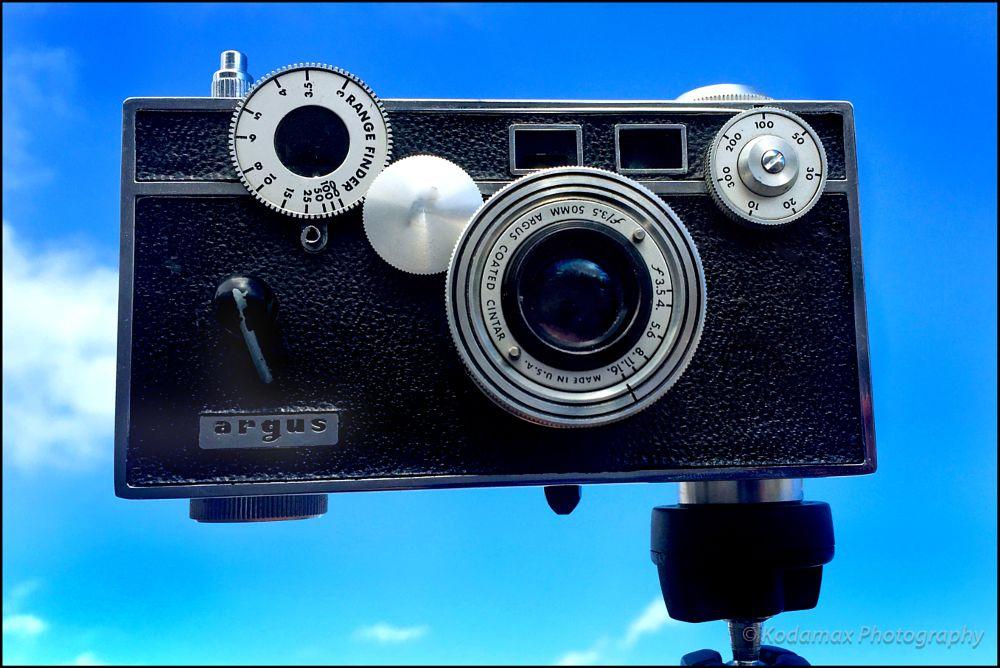 Photo in Vintage #followme #argus #rangefinder #c3 #the brick #kodamax #photography #vintage