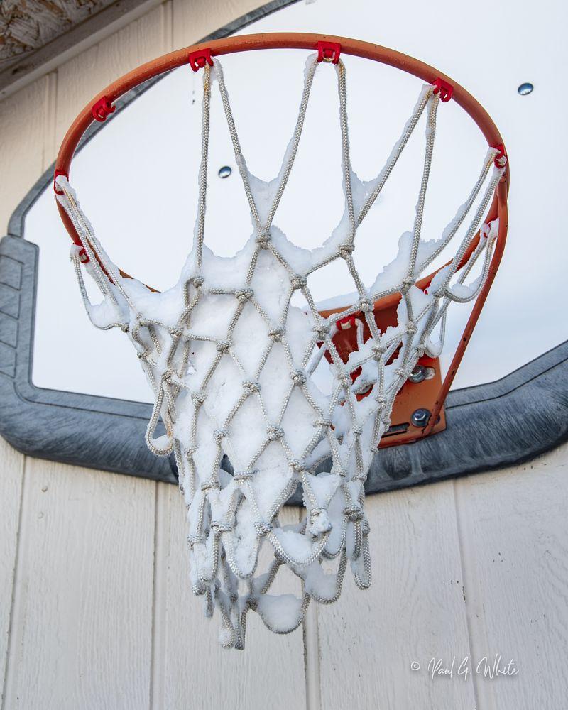 Photo in Random #snow #basketball #hoop #geometry #shapes #followme #experimental #kodamaxphoto