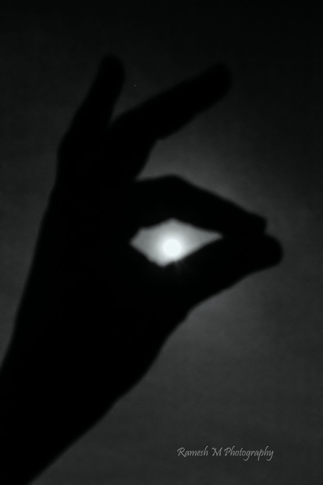 Photo in Black and White #moon #full moon day #handmade art #indian photography