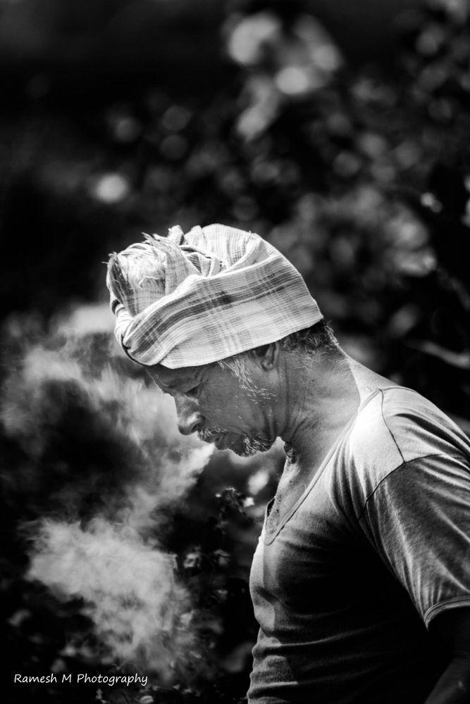 Photo in Black and White #people #smoking #smoke #people photography #ramesh muthaiyan #ramesh m photography