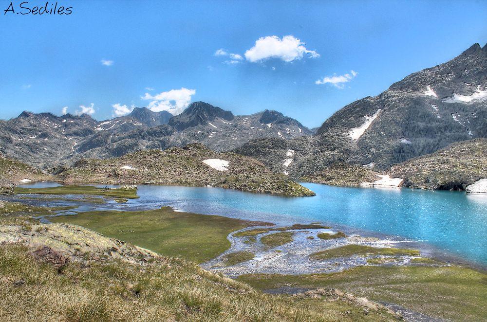 Photo in Nature #mountain #montaña #valle de tena #panticosa #huesca #pirineo #lake #lago #sediles #hdr