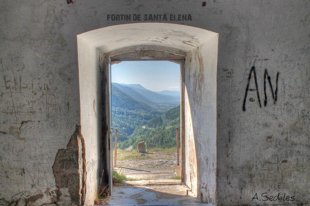 Photo in Random #fortin #santa elena #casttle #huesca #mountain #abandonado #sediles #hdr