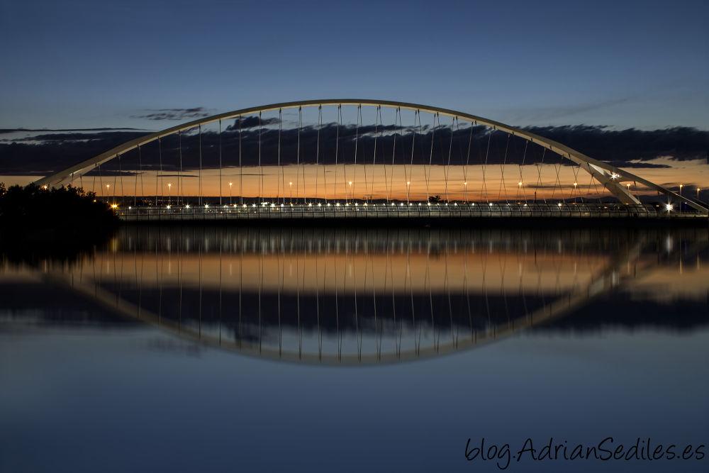 Photo in Random #atardecer bridge ebro larga