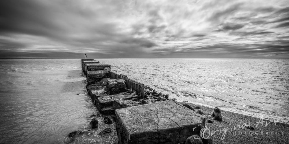 Photo in Black and White #monochrome #black and white #hastings #kent #seascape #fine art #ruins