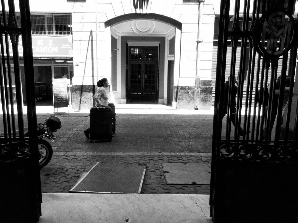 Photo in Street Photography #santiago #chile #street #city #urban #bw