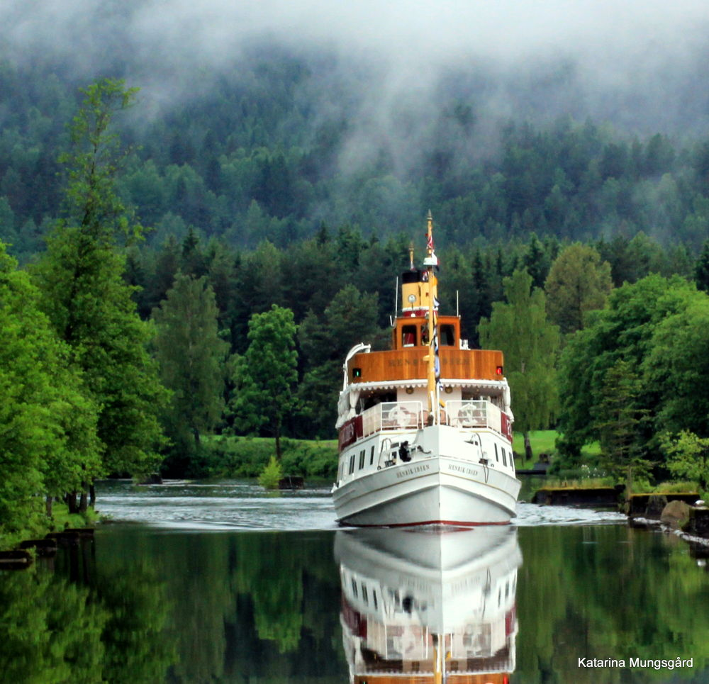 Photo in Nature #telemark canal #norway #canal #boat #ship
