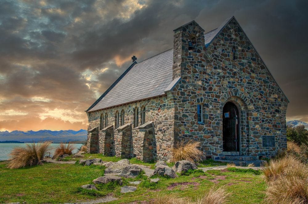 Photo in Landscape #lightroom plugin #building #church #lake tekapo #new zealand