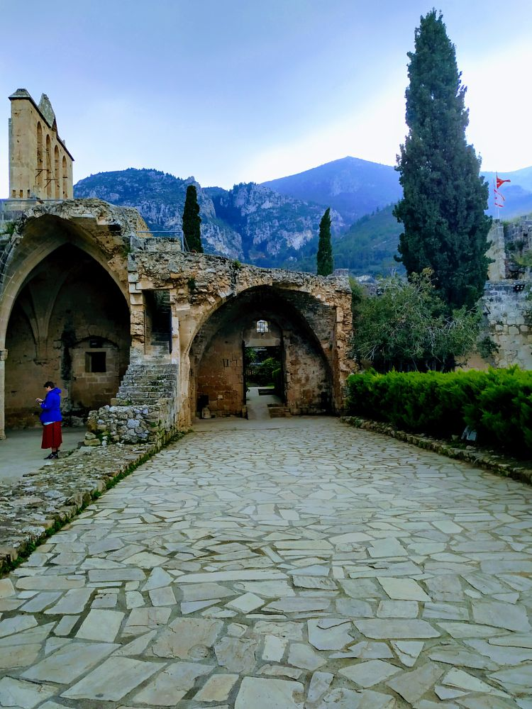 Photo in Architecture #trees #mountain #sky #old monastery #cyprus
