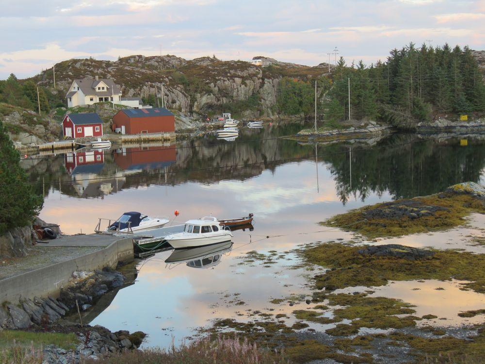 Photo in Landscape #sea #sky #boats #house #boathouse #trees #reflection #landscape