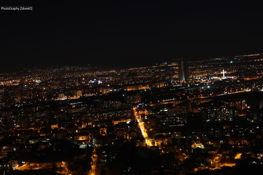 Photo in Cityscape #night #macedonia #skopje #canon #mountain #photography #color