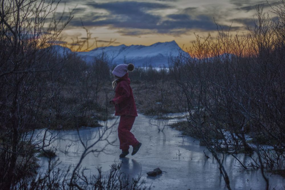 Photo in Nature #foto wang #bodø #mørketid #dancing #ice #norway #the blue season #odd rune wang