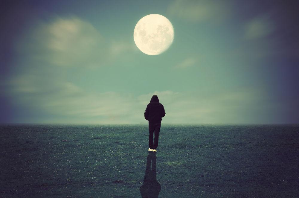 Photo in Fine Art #moon #beautiful #night #creative #conceptual #fineart #dreamy