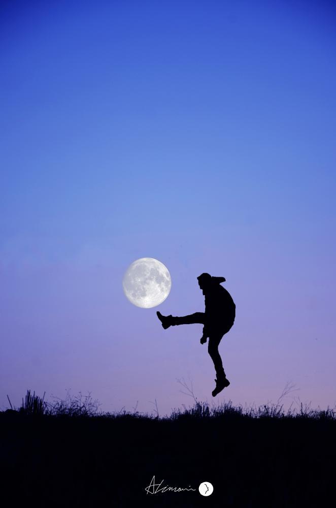 Photo in Fine Art #moon #shot #awesome #night #silhouette #fineart #creative #conceptual #art #artist