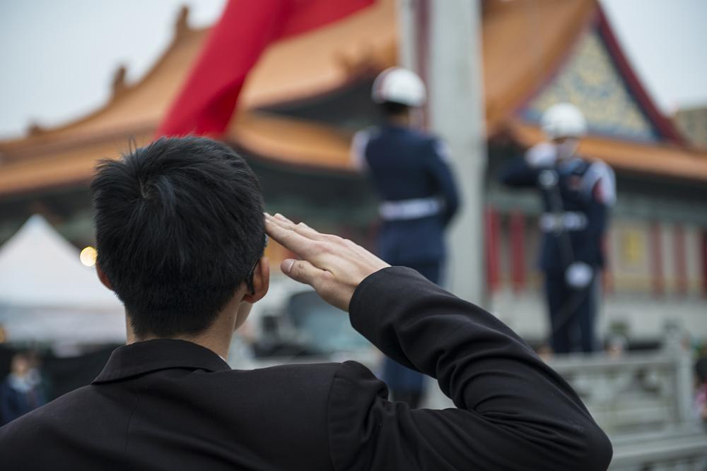 Photo in Street Photography #salute #flag #raising #taiwan #taipei