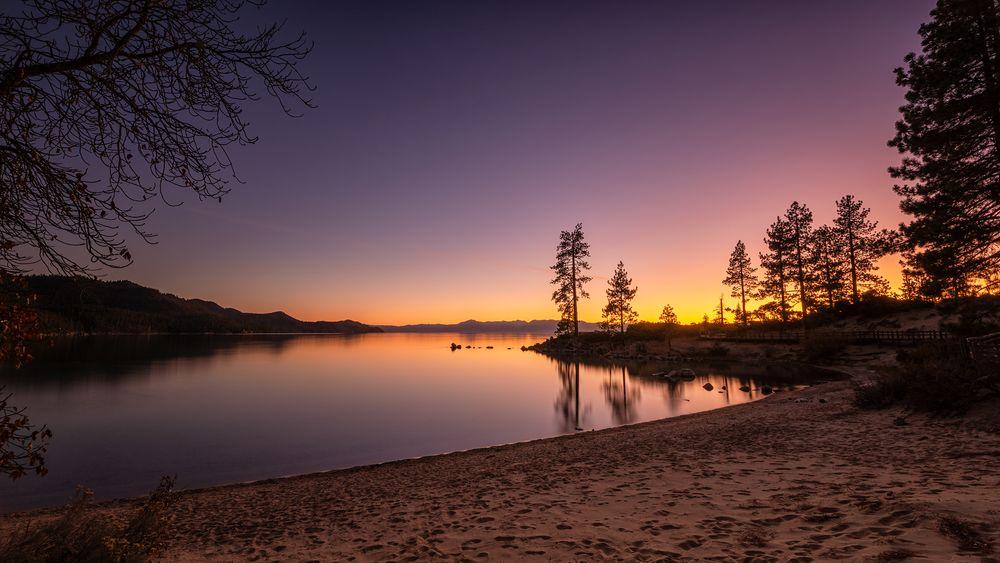 Photo in Landscape #usa #california #lake tahoe #lake #sunset #waterscape #landscape #scenics #calm #serene