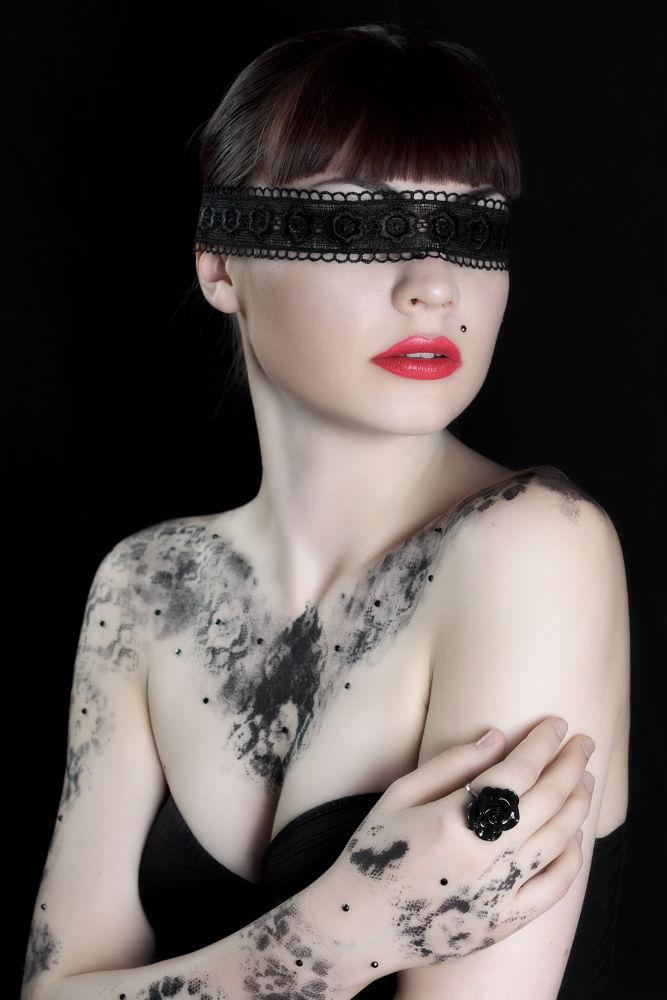 Photo in Fashion #beauty #fashion #lace #girl #woman #dark