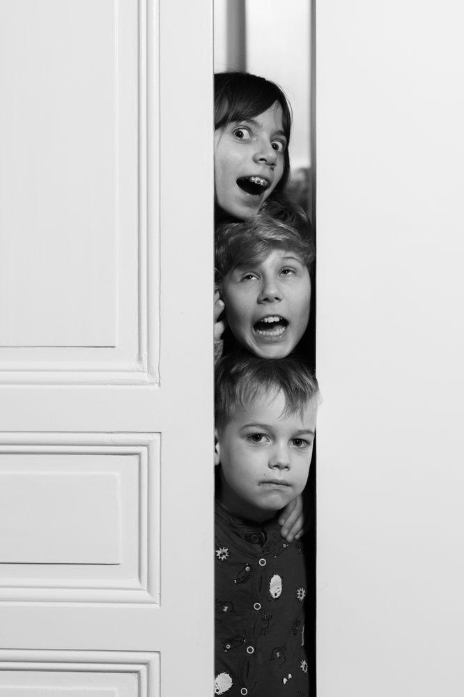 Photo in Portrait #black & white #covid #kids #grimace