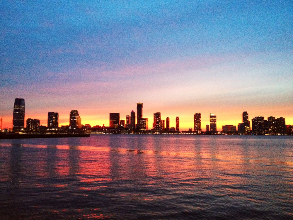 Photo in Journalism #newjersey #sunset #dusk #bluehour #newyork #manhattan