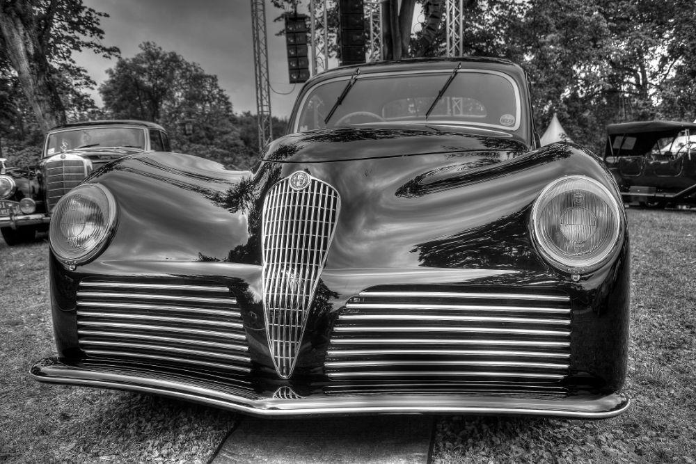 Photo in Vehicle #oldy #alfa romeo #vintage cars #black cars