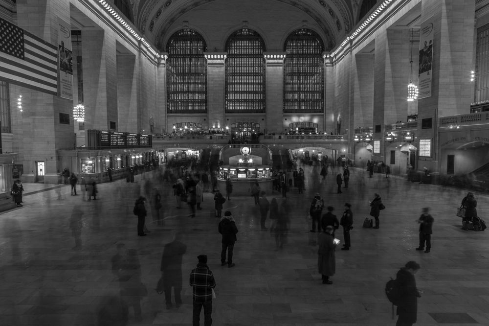 Photo in Random #grand central #people #black and white #commute