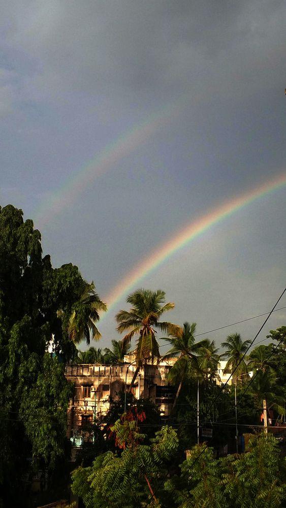 Photo in Nature #rainbow #rain #sunshine #beauty