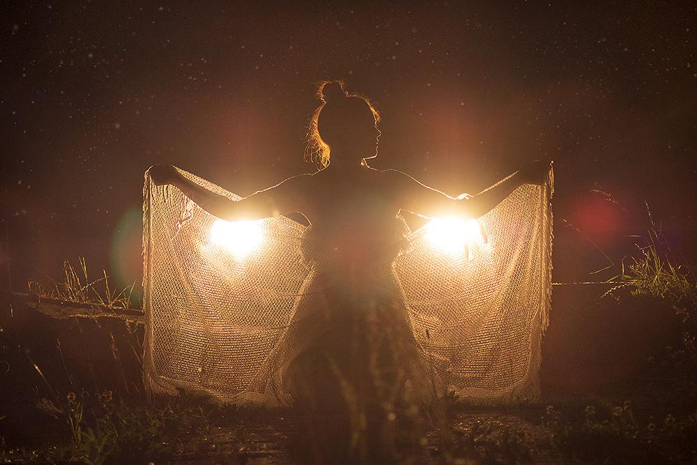 Photo in Fine Art #night #woman #light #fantasy