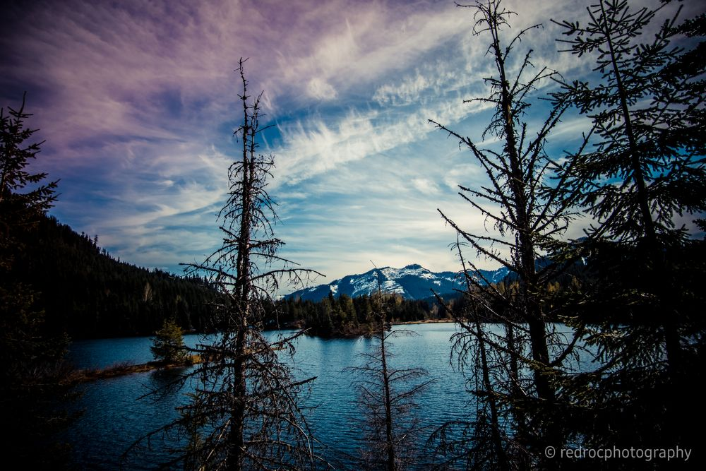Photo in Landscape #pond #water #mountains #clouds #trees #nature #outdoors