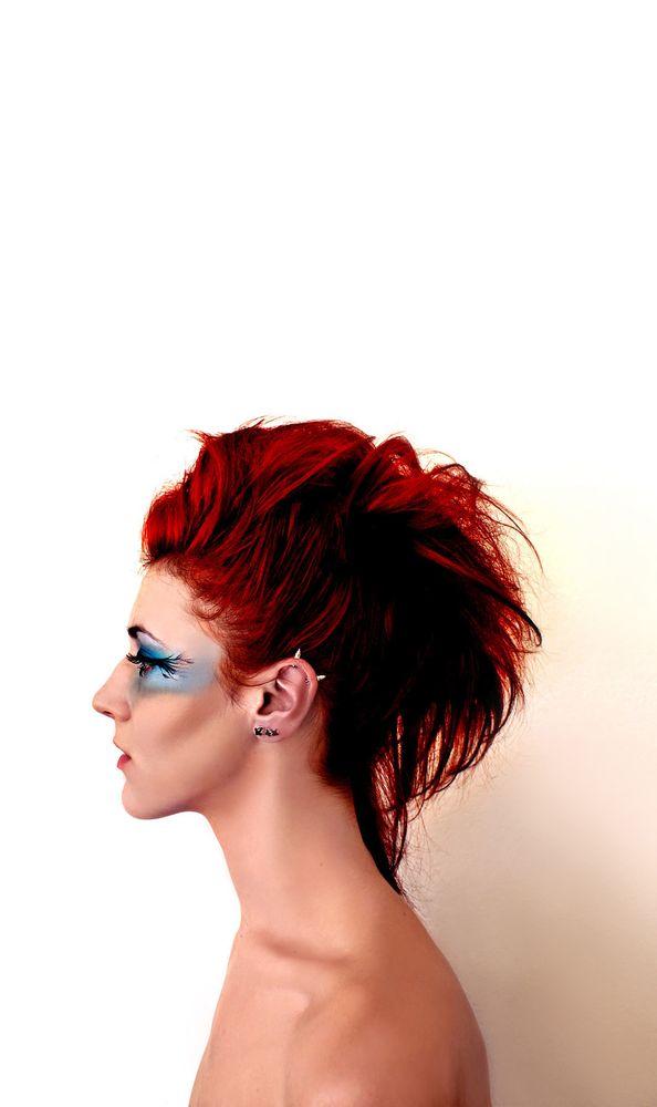 Photo in Portrait #beauty #fashion #portrait #girl #woman #redhead #makeup #jewelry #alternativefashion #altfashion