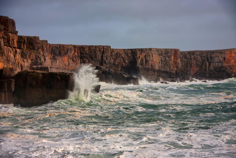 Photo in Random #pembrokeshire #cliffs #sea #wave #splash