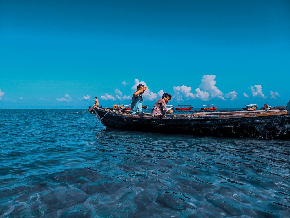 Photo in Random #blue water #sea #sunny day