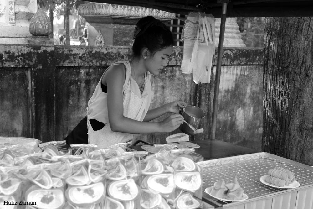 Photo in People #floating market #thailand #thai's girl