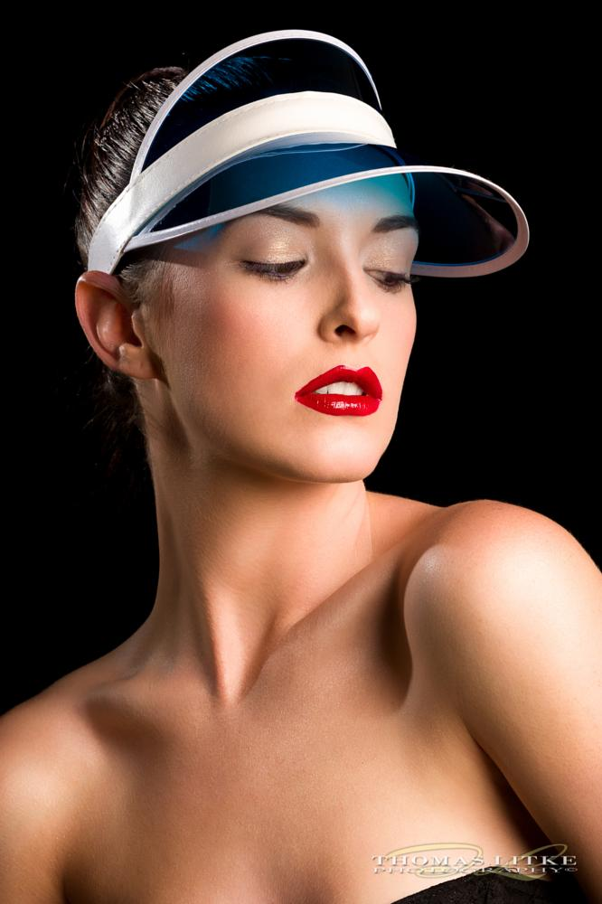 Photo in Portrait #tennis #mua #model #blue #cap #portrait #redlips