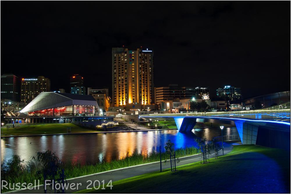 Photo in Landscape #adelaide #footbridge #night #reflections #torrens river